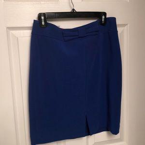 Banana Republic cobalt blue pencil skirt w/ 🎀